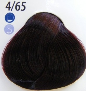 Estel De Luxe Крем-краска 4/65 Фиолетово-красный шатен
